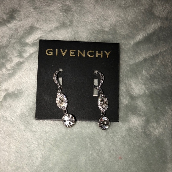 3d21b0a1893a7 Givenchy Crystal and Pave linear drop earrings NWT